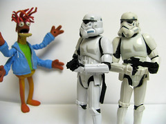Move Along Shrimp (2/2) (slidercleo) Tags: toy actionfigure starwars muppets shrimp stormtrooper pepe movealong okay muppetshow 30thanniversary kingprawn votc muppetstonight