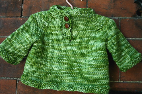 Child's Placket Neck Sweater in STR Heavyweight 'Jade'