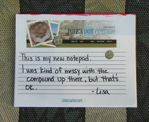 Homemade notepad