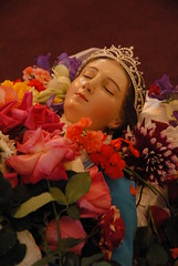 The Dormition of the Virgen (Ilhuicamina) Tags: flowers flores mexico death catholic maria mary churches fiestas iglesias michoacan assumption tiaras purepecha