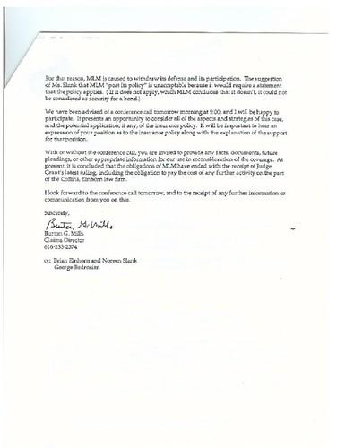 Letter to Ken Prather