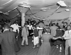 Valentine dance, school (The Library of Virginia) Tags: music holiday hearts dance piano trumpet highschool africanamerican 50s 1956 pianos richmondva drumkit valentinesday uprightbass saddleshoes segregation libraryofvirginia trapset adolphbricestudio