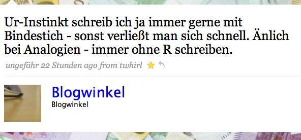 blogwinkel