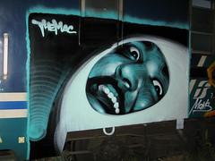 Mac - transit (elmac.net) Tags: italy milan art graffiti mac mural milano el themac elmac retna