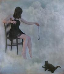 version1 (horriblecherry) Tags: girl clouds cat necklace dress surreal aplusphoto