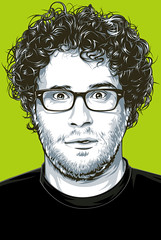 Seth Rogan Art (Mel Marcelo) Tags: portrait face glasses vectorart portraiture actor grafx adobeillustrator sethrogan melmarcelo meltendo mpyregraphics melitomarcelo