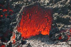 Etna - glowing crust (╬Thomas Reichart ╬) Tags: italien red italy oktober mountain landscape volcano lava october glow crack heat sicily 2008 etna liquid source vulkan sizilien lavaflow vulkane valledelbove süditalien ätna lavastrom