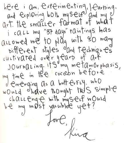 hand-written journal entry