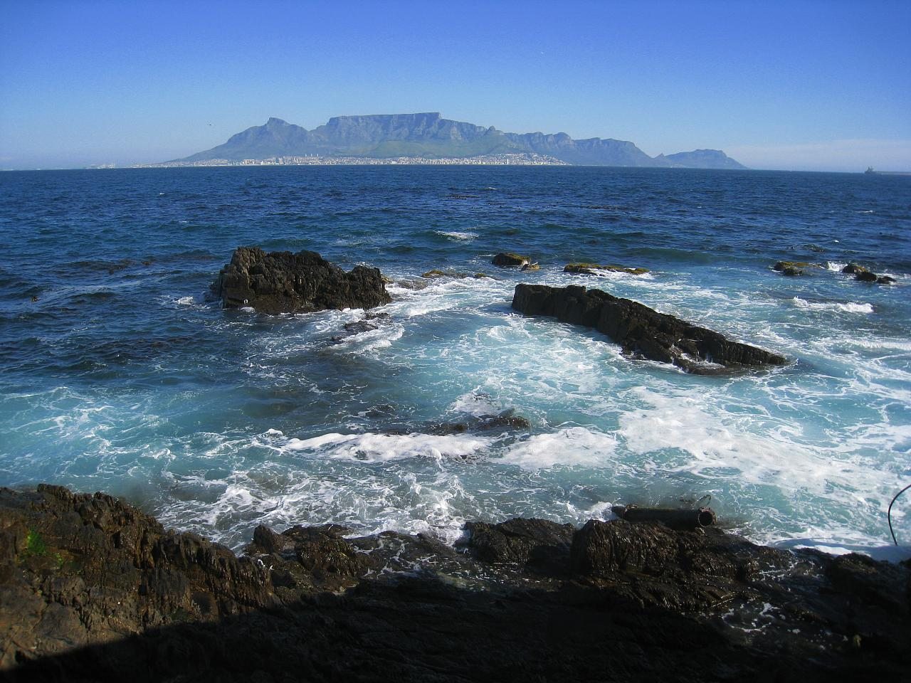 Cape Town as seen from Robben Island
