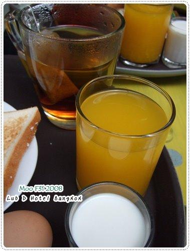 Lub d Hotel-果汁、茶、牛奶