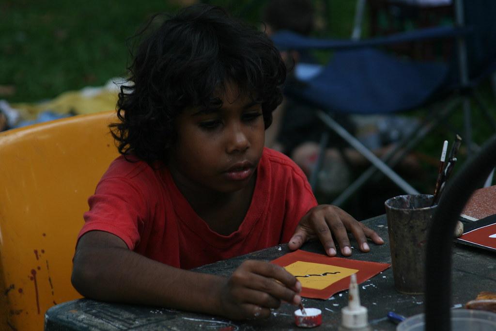 Indigenous artist Mindil Beach