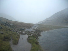 Styhead Tarn beneath Great Gable - was windier on top though! (Paul Foot) Tags: 2008 buttermere borrowdale omm