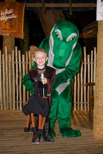 Anakin with an Alligator