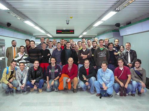 Foto de grupo - Visita Sevilla21 al Metro de Sevilla, 5/Nov/2008 - P1060267.JPG