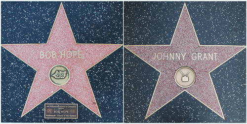 Bob Hope's and Johnny Grant's Walk of Fame Stars