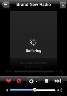 Last.fm buffering