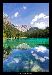 Mirror (nune) Tags: blue sky mountain lake reflection green nature water clouds ilovenature austria 2008 hdr styria naturesfinest supershot outstandingshots mywinners abigfave aplusphoto platinumheartaward grünesee