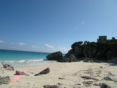 beach at tulum (underwhelmer) Tags: beach mexico tulum scr mayans