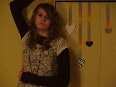 Hearts like rainbows (RosesPurple) Tags: girl wall hearts rainbow genna