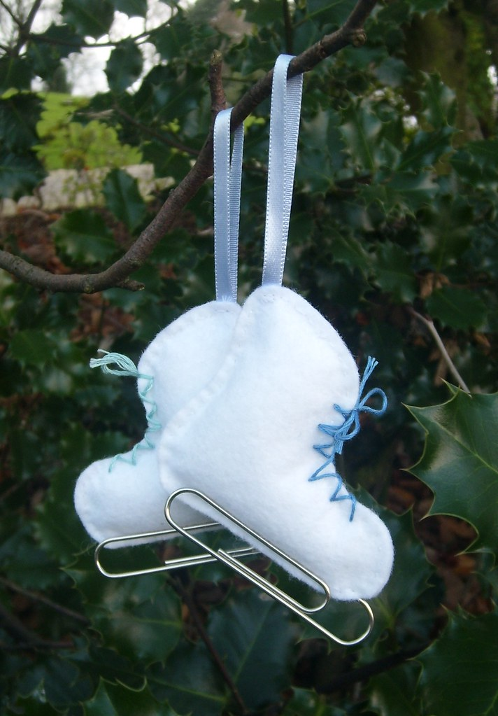 Ice Skate Tree Decorations