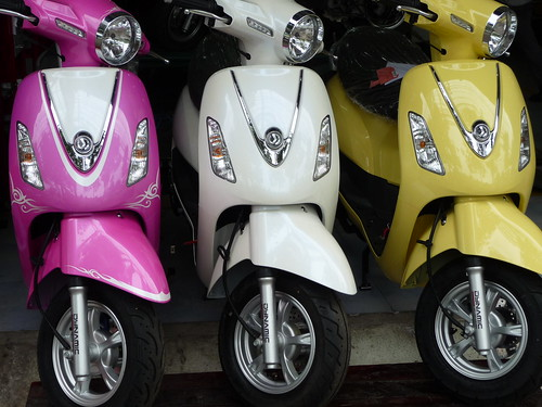 Three Scooters in Sweetie Colours