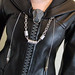 custom Organization XIII cosplay coats (close-up of zipper & chain)