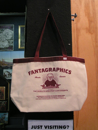 Fantagraphics Bookstore & Gallery Tote Bag with Daniel Clowes art