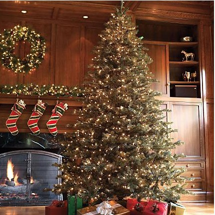 9 artificial prelit christmas tree · 9' bh noble fir - luxury artificial