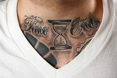 38/365 Time Ends (Solid Bond) Tags: black tattoo ink neck grey time script hourglass ends nyhc merauder blackandgrey newyorkhardcore necktattoo tattooscript timeends asyoutryandfeedtheworldallbutliesagain asyoutryandstealtheworldyourtimeends