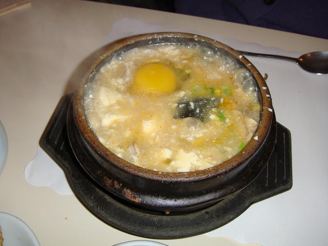 Kimchee soft tofu