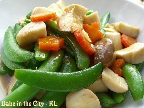 Stir-fried Snowpeas and Eryngii Mushrooms