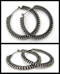 plain silver hoops