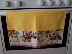 Yellow Pansy Tea towel