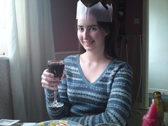 Me at Christmas (FunkySockzLover) Tags: christmas people dinner drinking nollaig rachaelcooke