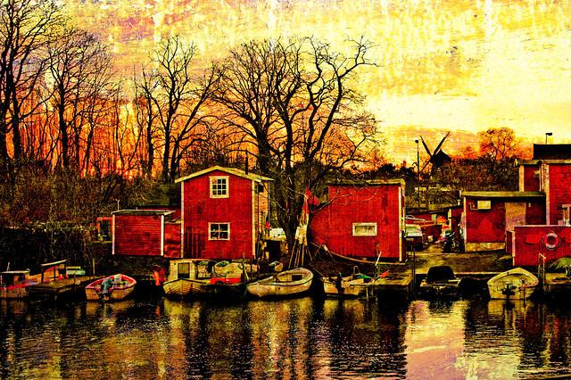 Fishermens huts by JohnDan1