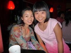 Fiona & Lily (JesseWarren) Tags: china girls friends party portrait music colors true bar lumix lily shenzhen fiona nightlife compact futian
