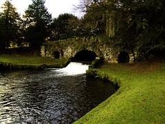 rustic bridge (bryan with a y) Tags: bridge water abbey gardens rustic royal fountains ripon studley