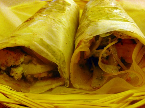 Paneer and Chicken Roll