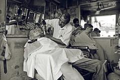 Diamond Bay Barber Shop (zzclef) Tags: nikon indian barber shave teluk intan d300 cukur rambut