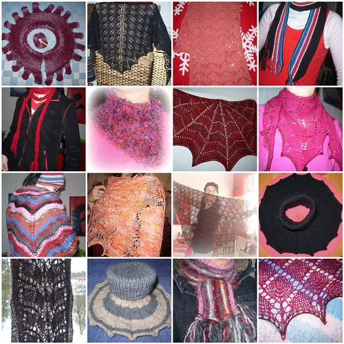 scarfs & shawls etc. 2008