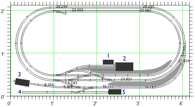 "Track Plan For Comments 2"" X 4"" Ish (N Gauge)"