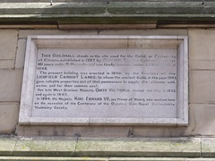Photo of Guildhall, Lichfield, Victoria, and Edward VII stone plaque