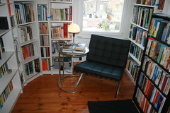 New House - Home Library (G Travels) Tags: library miesvanderrohe newhouse e17 walthamstow barcelonachair homelibrary eileengraytable ormonde wagenfeldlamp