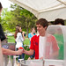 Free snow cones were given out by members of the campus activities council.