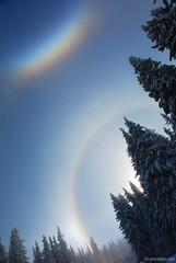 Sundog in Vitosha (.:: Maya ::.) Tags: winter sky mountain snow rainbow bulgaria sundog vitosha       mayaeye mayakarkalicheva  wwwmayaeyecom