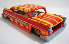 '61 Dodge Polara...Aztec Gold (Lino M) Tags: red orange car yellow gold lego aztec dodge build lowrider challenge lino 1961 lugnuts 61 polara aztecgold plusorminusten