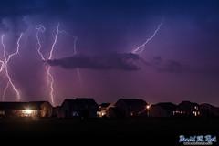 Lightning Over Marion (Daniel M. Reck) Tags: houses homes sky cloud storm nature rain weather clouds landscape iowa marion multipleexposure thunderstorm lightning feature extendedexposure cedarrapids dmrfeature