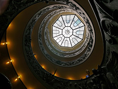 IT - spiral in the Vatican (TrevTheBrit) Tags: italy vatican rome museum spiral panasonic staircase 714 gh2
