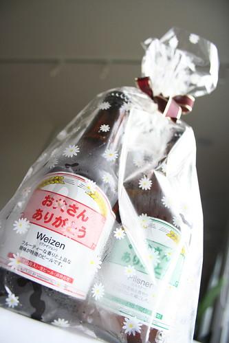 父の日のビールの贈り物