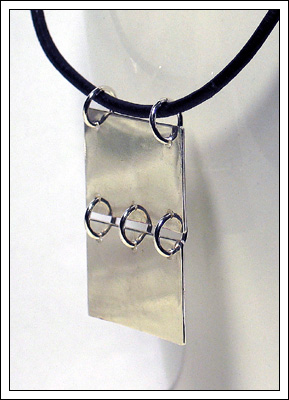 Kara (Silver sheet pendant)